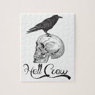 Hell Crow Halloween Jigsaw Puzzle