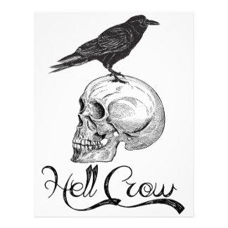 Hell Crow Halloween Letterhead