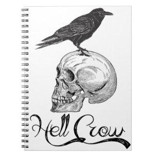 Hell Crow Halloween Notebook