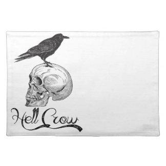 Hell Crow Halloween Place Mats