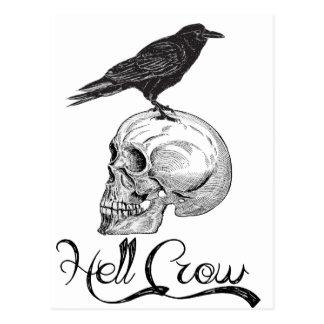 Hell Crow Halloween Postcard