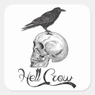 Hell Crow Halloween Square Sticker