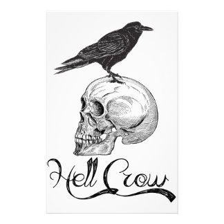 Hell Crow Halloween Stationery