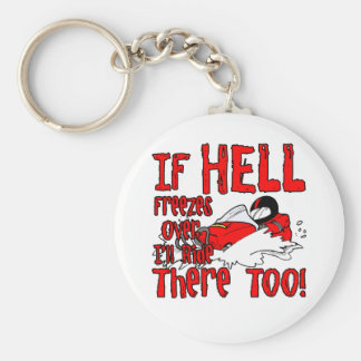 Hell Freezes Over Basic Round Button Keychain