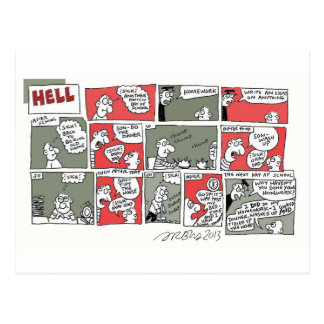 Hell Homework by Sam Backhouse Postcard