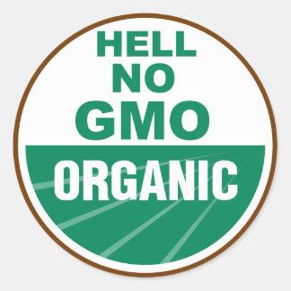 Hell No GMO Orgainc Round Sticker