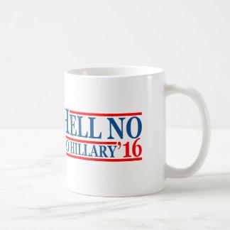 Hell No To Hillary '16 Basic White Mug
