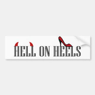 Hell On Heels Bumper Sticker