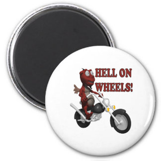 Hell On Wheels 2 Inch Round Magnet