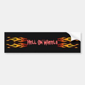 Hell On Wheels Bumper Sticker