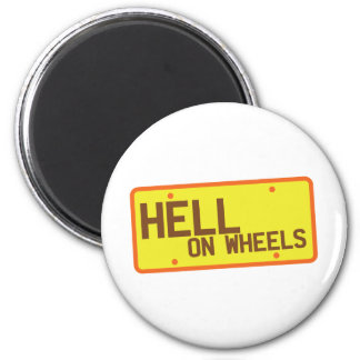 Hell on Wheels licence plate products Magnets