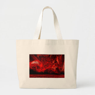 Hell planet large tote bag