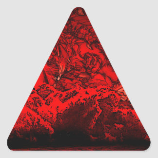 Hell planet triangle sticker