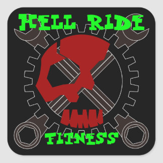 Hell Ride Fitness Square Sticker