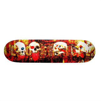 Hell Skulls Custom Skateboard