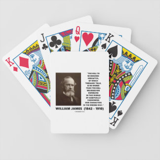Hell To Be Endured Hereafter William James Quote Bicycle Playing Cards