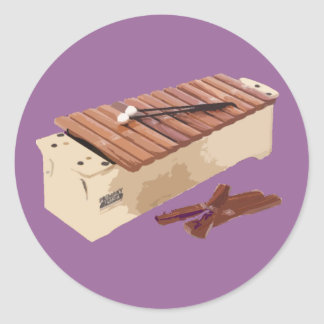 Hell Yeah, I Play The Xylophone! Classic Round Sticker