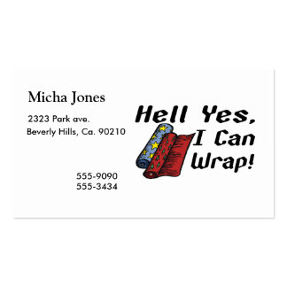 Hell Yes I Can Wrap Pack Of Standard Business Cards