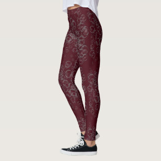 Hella Bubbles Quirky Silly Wine Leggings