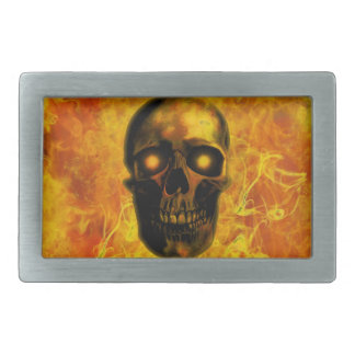 Hellfire Rectangular Belt Buckle
