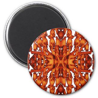 Hellfire Skulls Abstract 2 Inch Round Magnet