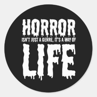 Hellhound Horror is Life Sticker
