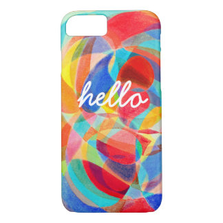 Hello Abstract Case for iPhone 7