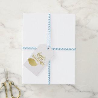 Hello Atumn | Faux Gold Brush Script Gift Tags