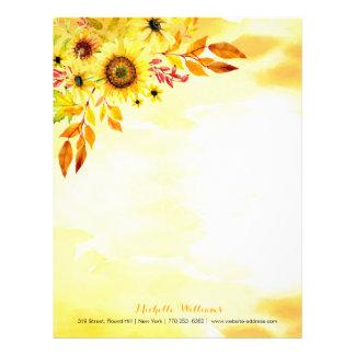 Hello autumn letterhead