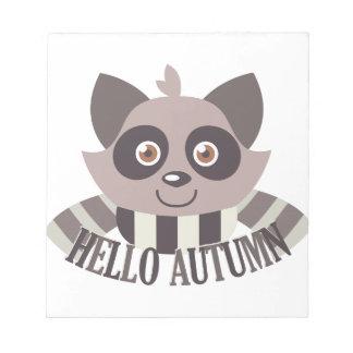 Hello Autumn Notepad