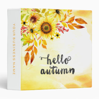 Hello autumn vinyl binders