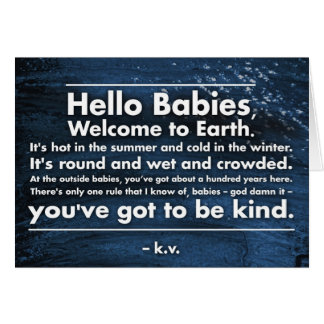 """Hello Babies"" greeting card"