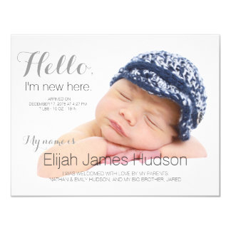 Hello Baby Birth Announcement