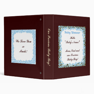 Hello Baby Boy! custom Photo Album designer Blue Binders