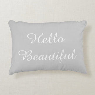 Hello Beautiful Accent Pillow