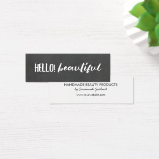 Hello! Beautiful Chalkboard Mini Business Card