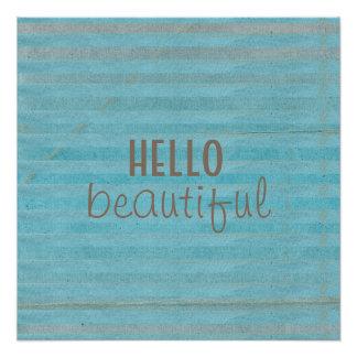 Hello Beautiful Chic Striped Design | Poster