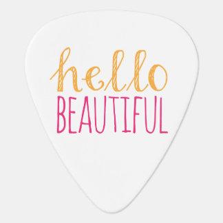 Hello Beautiful Guitar Pick