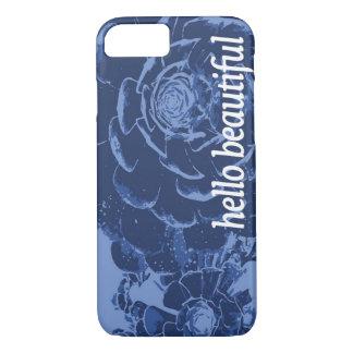 Hello Beautiful Indigo iPhone 7 Case