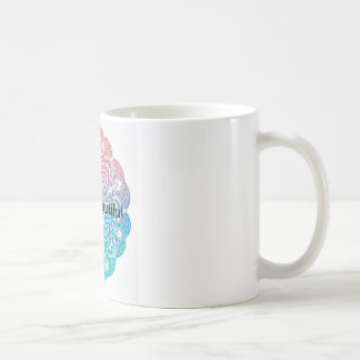 hello Beautiful mandala background Coffee Mug