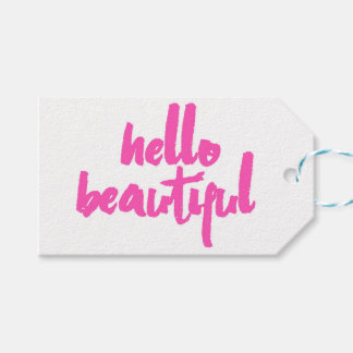 Hello Beautiful | Pink | Tags Pack Of Gift Tags