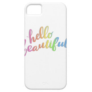 HELLO BEAUTIFUL RAINBOW CALLIGRAPHY CASE FOR THE iPhone 5