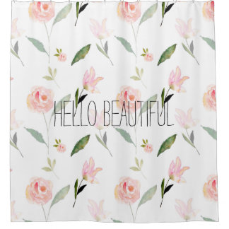 Hello Beautiful Watercolor Floral