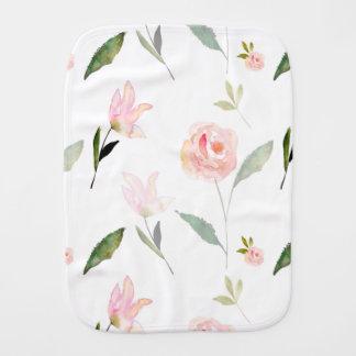 Hello Beautiful Watercolor Floral Burp Cloth
