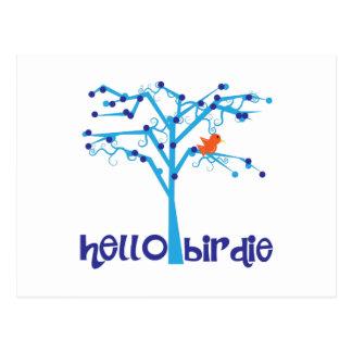 Hello Birdie Postcard