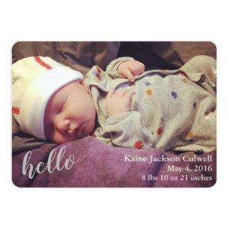 Hello! Birth Announcement