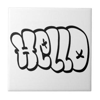 HELLO BUBBLE GRAFFITI CERAMIC TILE