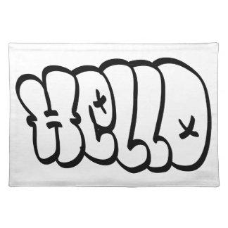 HELLO BUBBLE GRAFFITI PLACEMATS