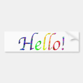 hello! bumper sticker