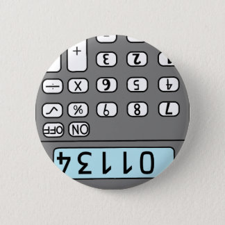 hello calculator 2 inch round button